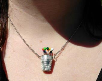 Flower Pot Thimble Necklace