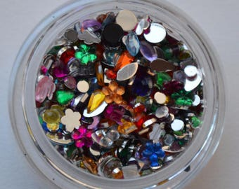 Mixed Color Shapes and Sizes Rhinestones. 5 grams