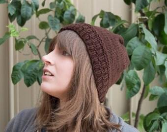 Chocolate Brown Knit Cap