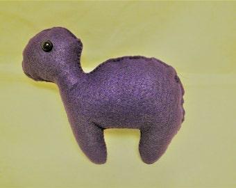 Purple Plush Dinosaur, Plushie, Cute, Kawaii