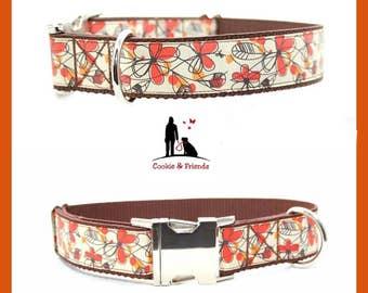"Dog collar ""Spring flowers"""