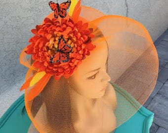 Monarch Butterfly Fascinator