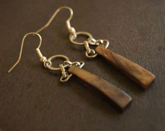 Drop Ring & Shell Earrings