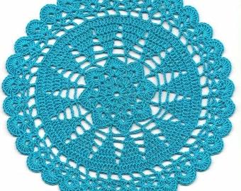 Vintage Handmade Crochet Doily Lace Lacy Doilies Wedding Decoration Home Decor Flower Mandala Dream Catcher Crocheted Round Turquoise