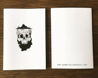 A6 notebook Ghost Island