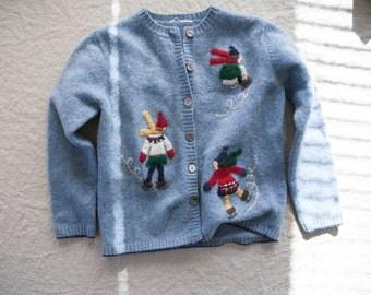 Vintage Kids Cardigan, Size Small