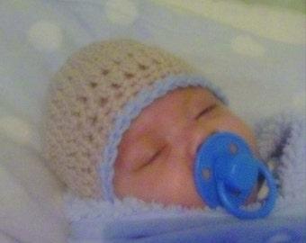 Baby sweet hand crocheted beanie