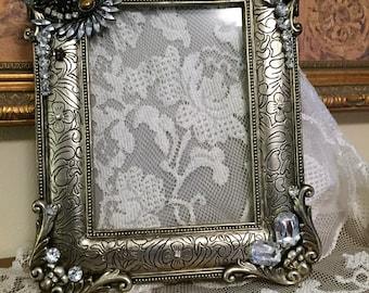 Jeweled Picture Frame, Jeweled Wedding Frame