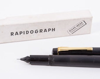 Boxed Rapidograph pen Hamburg Germany 1960s