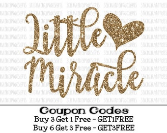 Little Miracle Svg New Baby Svg files Baby Girl svg files Newborn svg PNG svg files for Silhouette Cameo svg files for Cricut SVG Designs