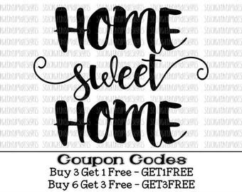 Home Sweet Home Svg Home Svg House SVG PNG Files Svg Files For Cricut Svg Files For Silhouette Cut Files Home Decor Svg Bless Our Home Love