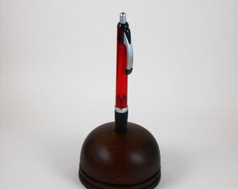 paperweight/penholder of black walnut