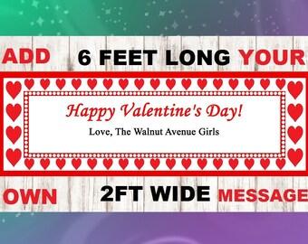 Valentine Banner, Heart Banner, Love Banner, Valentines Day Banner, Valentine Photo Prop, Valentine Gift, Valentine Burlap Banner, Red Heart