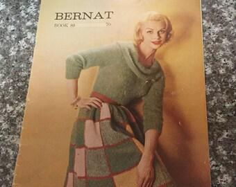 Bernat Handicrafter Fashions in Mohairspun, Mohairlaine, Astrkhan, and Angora, Book 89, 1960