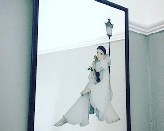 Vintage 1980s Pierrot Mirror