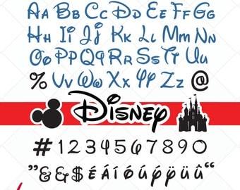 disney inspired svg, disney font svg, alphabet cut files, cutting files, svg, dxf, mickey, Castle Silhouette, cricut - Scrapbooking Die Cuts