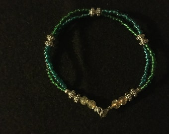 Green/Blue Blend Double Strand