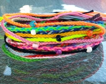 New! Handmade! Beaded braid friendship bracelets lot of 10