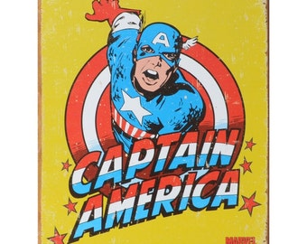 Captain America Classic Marvel Comics Tin Sign