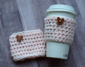 Easter Gift - Coffee Cozy - Eco Friendly - Gift For Her - Coffee Enthusiast - Teacher Gift - Coffee Lover - Reusable Cup Cozy -Bubble Tea