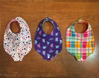 Girls Binky (Pacifier) Bibs