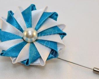 Boutonniere carousel, kanzashi satin flower, corsage, brooch, boutonniere, kanzashi, fabric flower