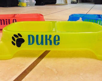 Dog bowl, Puppy bowl, Personalized Dog food bowl, pet food bowl, Dog Food, name pet bowl