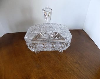 Vintage Glass Covered Dish