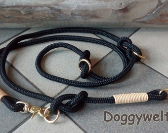 Dog leash TAU - multi adjustable with brass