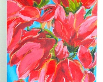 FLOWERS abstract painting ORIGINAL