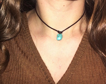 Turquoise Nugget Choker :)