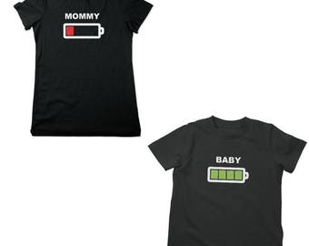 Mommy & Baby Battery Shirts Mommy and Me Battery Life