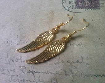 Wings earrings ~ gold ~.
