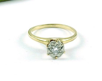 Vintage Diamond 14k Gold Engagement Ring