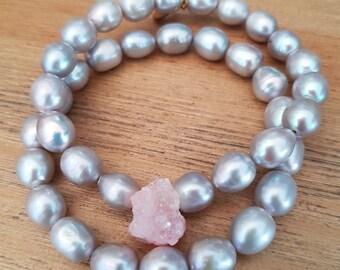 Bracelet female, Elegant-03, pearls of freshwater.