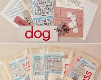Scrapbook Kit ~ Vintage Ephemera Kit -  Art supply Crafts