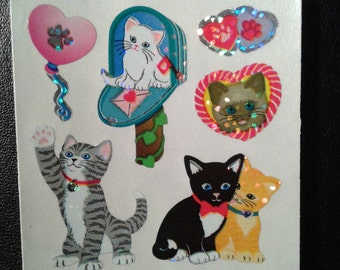 Sandylion Stickers Glittery Valentine Cats, Cat  (1 mod)