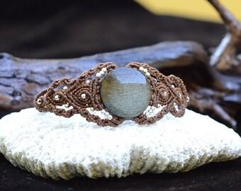 Golden Obsidian macrame bracelet