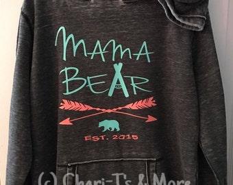 Personalized Mama Bear Hoodies