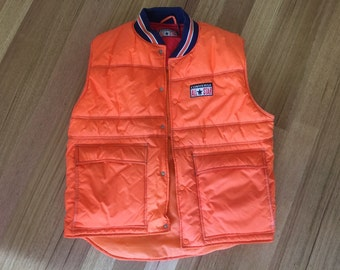 1997 converse all-stars orange sleeveless padded vest