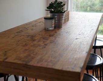 Industrial bar dining table Birdseye Stringybark