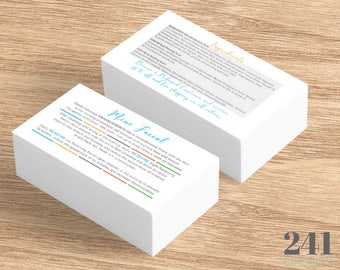 Rodan + Fields Mini Facial and Ingredients Card - Printed