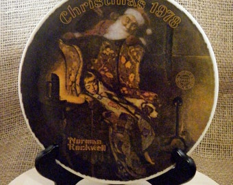"""1978 Norman Rockwell Collectors Plate """"Christmas Dream"""""""
