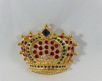 KENNETH JAY LANE Crown Brooch