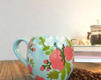 Pastel Florals- Rounded Mug