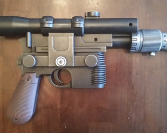 FREE SHIPPING - DL-44 Han Solo Blaster - Custom Painted Prop (free shipping  within the U.S.) - ADEQU8