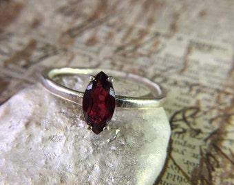 Sale! Silver Garnet Ring