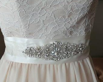 Wedding sash - Wedding Belt - Bridal Belt - Bridal Sash - Crystal Wedding sash - Crystal Wedding Belt - Crystal Bridal Belt - Crystal Sash