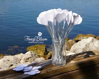 50 Hearts on a stick. Aisle Decor, Wedding Decorations, Beach Wedding, Heart Decoration, Wedding Aisle