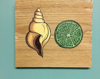 Conch Shell and a Lime